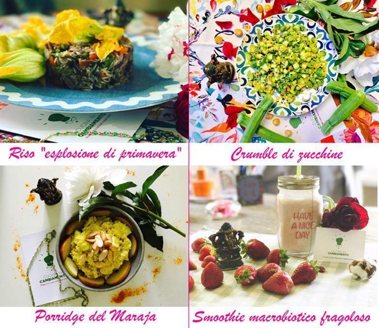 Menu organizzato: cibo sano