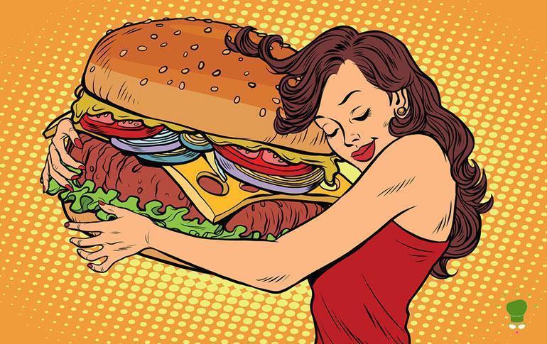 Menu con cibo sano
